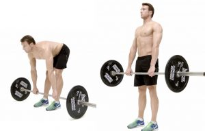 Deadlift on straight legs